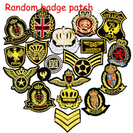 Wholesale Embroidery Patches Badges - 10pcs Ramdon Badge Patches for Clothing Iron Embroidered Patch Applique Iron Sew on Embroidery Patches Diy Sewing Accessories for Clothes