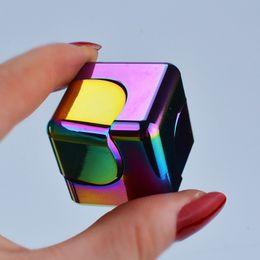 Wholesale Metal Cubes - Rainbow Magic Fidget Cube Hand Spinner Fidget Spinner Metal Hand Spiral Gyro Decompression Toys