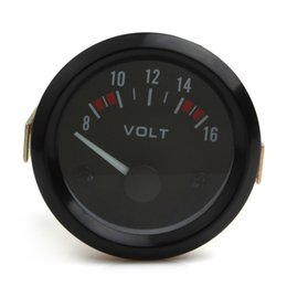 Wholesale Car Volt Meters - Universal Voltmeter Gauge Meter 8-16V Racing Car 2inch Volts Gauge Meter 52mm Auto Gauge Instrument CEC_541
