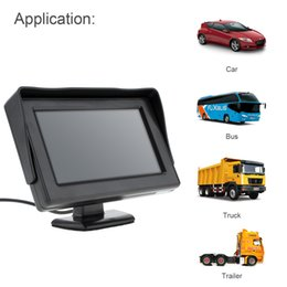 Wholesale Vcd Video - 4.3 Inch DC 6-32V HD 480x234 Resolution 2-Channel Video Input TFT-LCD Car Monitor for Rear View Camera   DVD   VCD CMO_30B