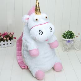 Wholesale Soft Plush Backpack Bag - Big 55cm Unicorn Plush Backpack Baby Kids Soft Stuffed Licorne Peluche Toys Cartoon Plush Backpacks Mochila Bags Children Birthday Gifts