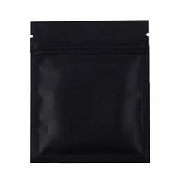 Wholesale Wholesale Black Ziplock Foil Bags - 7.5x10cm  3x4in 100pcs Matte Black Aluminum Foil Plastic Ziplock Pouch Flat Small Package Zip Lock Bags With Tear Notch