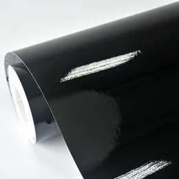 Wholesale Car Gloss - Wholesale- 2ft x 5ft Gloss Black Vinyl Vehicle Car Wrap Sticker Decal Roll with Bubble Air Release
