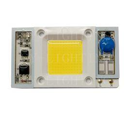 Wholesale High Power Led Driver Chip - Driverless high power 50W AC110V   220V LED chip built-in driver Full Spectrum 400-840nm White Light for aquarium