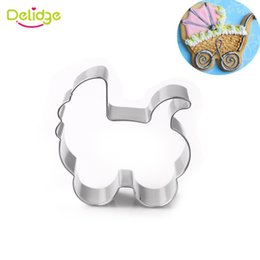 Wholesale Baby Cookie Cutters - 1pc Stainless Steel Baby Stroller Cookie Cutter Pastry Biscuit Baking Mold Fondant Wedding Cake Decorating Tools