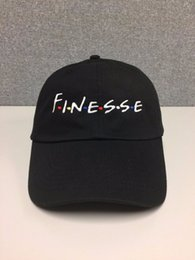 Wholesale Vintage Style Art - FINESSE Hat (slide buckle) fashion style vintage art dad cap seasons caps meme