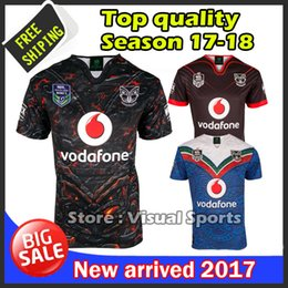 Wholesale Warriors Jersey Xl - 2017 New zealand Warriors rugby jerseys 17 top quality 9S men rugby shirts NZ Warriors Auckland Nines Jersey free shipping