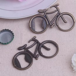 Wholesale Cute Bridal Shower Gifts - Wholesale-1Pcs cute bicycle Casamento Bottle Opener Baby shower Wedding Favors Gifts Event Party Supplies Souvenirs Bridal Shower Gift