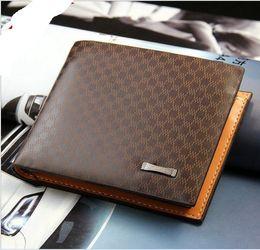 Wholesale Tartan Purse Wholesale - 2017 Male Genuine Leather luxury wallet Casual Short designer Card holder pocket Fashion Purse wallets for men free shipping