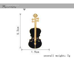 Wholesale Wholesale Music Keyboards - Violin music operator keyboards composite alloy series drip brooch Male and female common easy matching pin
