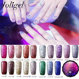 Wholesale Nail Art Soak Off Set - Wholesale Joligel 18Pcs Set Diamond BlingBling UV Gel Nail Soak off Nail Gel Polish Nail Art DIY Vanish 8g PCS Lak Esmaltes Permanentes LED