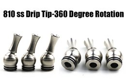 Wholesale Drip Tip Rotation - Stainless steel 810 drip tip for TFV12,TFV8,kennedy 24,goon 24 rda 810 with o-ring design 360 Degree Rotation