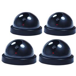 4 PC Telecamera di sicurezza per videosorveglianza a cupola fittizia falsa con luce flash di registrazione da maschera per freddo fornitori