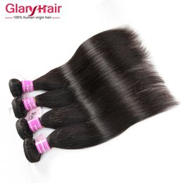 Wholesale Hair Weave Hairstyles - Wholesale Brazilian Hair Weave Bundles Peruvian Straight Virgin HairStyles Free Shipping Malaysian Indian Remy Straight Human Hair Bundles