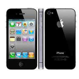 Wholesale Apple Wifi - Refurbished Apple iPhone 4S 64G ROM 3.5inch Screen 5.0MP Camera Dual Core 3G WCDMA WIFI GPS Unlocked Smartphone