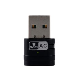 Wholesale Fast Ethernet Usb - Wholesale- WiFi Adapter Dongle USB Wireless Dongle 802.11ac Ultra-fast AC600 433+150Mbps Dual Band 2.4Ghz 5Ghz for Desktop PC