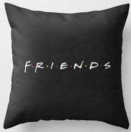 Wholesale Throw Pillow Sale Free Shipping - Wholesale- Hot Sale Popular TV Show Friend Simple Style Nice Zippered Square Vintage Throw Pillow Case Free Shipping