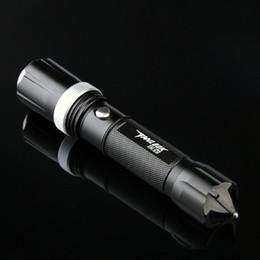 Wholesale Led Flashlight Long Range - Flashlights LED Light Explosion Long Range Mini Flashlight Zoomable Tactical Cree LED Flashlight Charger With Life Hammer