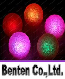 Wholesale Led Lights For Centerpieces Wholesale - LOVE Styles Wedding Centerpieces Gifts Christmas Ornament Colorful Rose Ball LED Night Light For Party Decoration Supplies LLFA