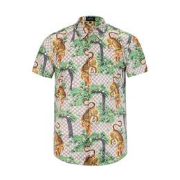 Wholesale Collar Silk Sleeve - 17 summer new fashion Wave Of Men Floral Print Colour Mixture Luxury Casual Harajuku Shirts Short sleeve Men's Medusa Shirts M--3XL