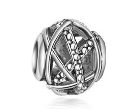 Se adapta a Pandora Pulseras 30 unids Hollow Ball Crystal Silver Charm Bead Granos sueltos para venta al por mayor Diy collar de plata esterlina europea mujeres desde fabricantes