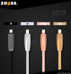 Wholesale Dual Usb Cords - Dual Use USB Cable Compatible for IOS & Android Charge Cord Lightning USB-PTE Cable 39.37 Inch (1M)-Universal USB for iPhone, Samsung-Gold