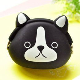 Wholesale New Korean Womens - Wholesale- New Fashion Korean Candy Colored Girls Coin Bags Womens Wallets Cute Cartoon Silicone Mini Coin Purse Children Kids Gifts