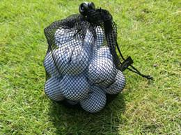 Canada 14 * 20 cm Noir Nylon Mesh Nets Filets Golf Ball Sac Pouch Golf De Tennis De Table 15 Balles Transportant Le Titulaire De Stockage Sac String Fermeture Offre