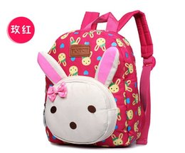 Wholesale Backpacks For Toddler Girls - Wholesale- 2016 Lovely rabbit bear children toddler shoulders school bags baby backpack for boys and girls