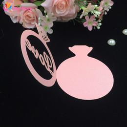 Wholesale Diamond Wedding Invitation Cards - Wholesale- 10pcs lot Diamond Rings Love Design Invitation Card Favor Cards Laser Cut Wedding Invitation Party Supplies Wedding Decoration