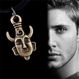 Wholesale Deans Amulet Necklace - Wholesale-Supernatural necklace Dean Winchester Jensen Ackles amulet pendant jewelry for men and women wholesale