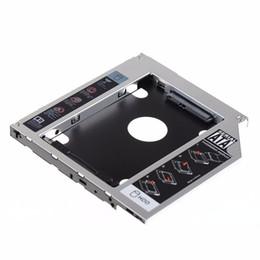 Carrito de unidad portátil online-Al por mayor- SATA 2nd HDD HD Hard Drive Caddy Case para 9.5mm Universal Laptop CD DVD-ROM