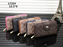 Wholesale Ladies High Quality Wallets - Popular famous designer brand high-grade wallet lady fashion long zipper hand bag manufacturers selling high quality 1725 #