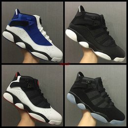 Wholesale Increase Ring - New Retro 6 six rings for men Basketball Shoes sneakers black white blue retros 6s basket ball bootssports shoes Alternate boosts eur 40-45