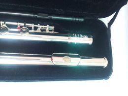 Качество флейты онлайн-2018 Top Высокое качество флейты YFL-371H серебряная флейта C мелодия музыкальные инструменты E key флейта музыка бесплатная доставка