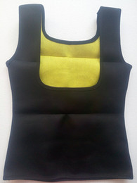 Wholesale Wholesale Waist Trainer Weight Loss - Wholesale- Hot Selling Neoprene Sauna Waist Trainer Vest Body Shaper Hot Shaper Weight Loss Sweat Belt Healthy body vest