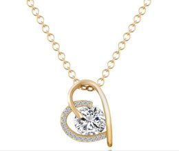Wholesale Proof Love - Love zircon necklace simple Korean version of the necklace fast selling explosion - proof necklace jewelry manufactu wholesale free shipping