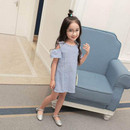 Wholesale Chinese Clothing For Babies - Summer Baby Girl Dress Striped Kids Dresses For Girls Party Princess Children Vestidos Birthday Party Gown Clothes