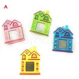 Wholesale Wholesale Fancy Keychain - new portable mini game player for kids gift toy house shape 4 style multi color with keychain ring game console retro fancy toy