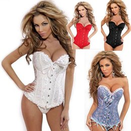 Wholesale Sculpted Bows - sexy plus size bow ruffles women's shapers t pants two sets body sculpting underwear Europe new Corset body-shaped underwear garment su
