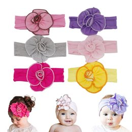 Wholesale Mixed Toddler Girls - Cotton Headband For Baby Girls Flower Head Wrap Cute Hair Accessories Hair Band Newborn Infant Toddler Children Turban Wholesale