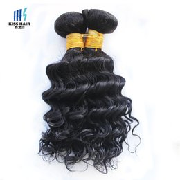 short curly human hair weave Promo Codes - 4 Pcs Indian Deep Curly Hair Weave 50g pc Color 1B Black Cheap Human Hair Weave Extensions for Short Bob Style
