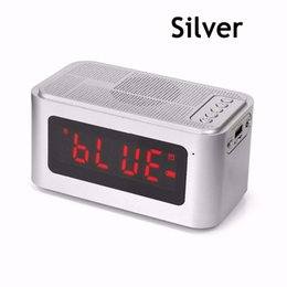 Wholesale Aluminum Clocks - S61 Portable Wireless Bluetooth Speaker withTime Display&Alarm clock Handsfree Call Support TF Card for Computer Speakers