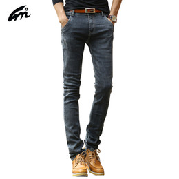 Wholesale Men S Attire - Wholesale- New jeans men business attire stretch cotton jean straight men fall and winter thick section loose micro-bomb Jeans Men Trousers