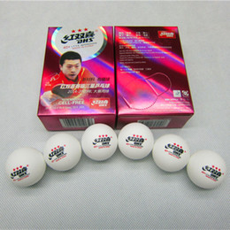 Wholesale Dhs Ball Star - Wholesale- 12Pcs lot New Material DHS 3-star PingPong Balls dhs 40+mm ITTF Approved Table Tennis White CELL-FREE Offical Ball of World Game
