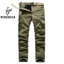 Wholesale Cargo Pant Sales - Wholesale-WEONEDREAM Hot Sale! Plus Size Mens Pure Cotton Cargo Pants Leisure Trousers Add Wool Warm Winter Leisure Trousers