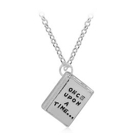 Wholesale Fairy Stories - DOUBLE SIDE Once Upon a Time Happily Ever After Fairy Tale Story Book Pendant Necklace for Women lady Fashion Jewelry DROP SHIP 161815