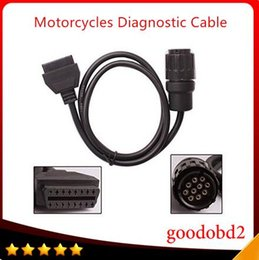 Wholesale Icom D - 1 pc For BMW ICOM D Cable Motorcycles Cable Motobikes Diagnostic Cable 10Pin Adaptor work with BMW ICOM or BMW ICOM A2 A3