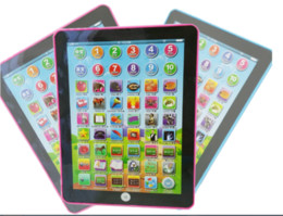 Wholesale Toy Y Pads - mini Learning Toys game Tablet pad PC chinese English Laptop Y Pad Kids Game Music Education Christmas Electronic Early Machine