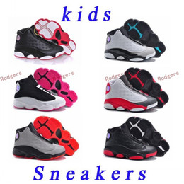 Wholesale Boys Ski Boots - New 2017 Children's Retro 13s Basketball Shoes Kids Athletic J13s Sports Shoes Youth Boy Girls Shoes Free Shipping US11C-3Y size:28-35
